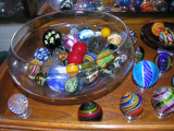 Shelf #7 - Assorted bowls and swirls (Wheaton bowls on left and right)