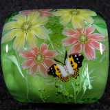 Double Cosmos and Butterflies Size: 0.99 x 0.82 Price: SOLD