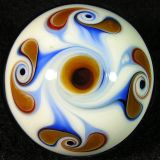 Cream-brown pinwheel backside
