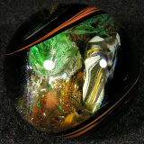 Illusion - Goldstone & Silver Leaf - $190