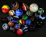 These are the marbles Chris had been making for Paul.  After Paul died, he sold them to help the family.