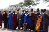 Take picture with Maasai women