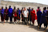 Take picture with Maasai men