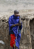 Maasai  man all the time with stick