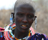 Young Maasai woman
