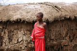 young girl of  Maasai village