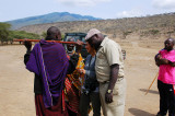 Buy a gift from Maasai woman before leaving