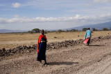 Maasai woman on road back to Ngorongogo