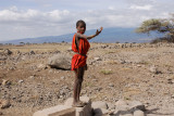 Maasai young boy