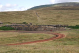 Another isolated Maasai village on highland