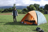 Set up camp at Simba campsite Ngorongoro