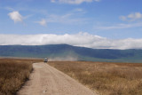 Ngorongoro ridge around the crater.