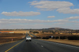 On the way to Golden Gate Highlands NP