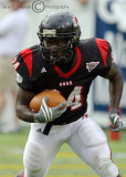 GWU Bulldogs RB Peoples looks for running room late in the game