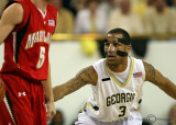 Georgia Tech G Miller squares up to defend Maryland G Hayes