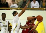 Georgia Tech G Storrs puts pressure on Maryland G Vasquez