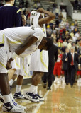 Jackets G Shumpert shows his disappointment after his three point attempt failed as time expired