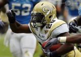 Georgia Tech A-back Roddy Jones breaks into the open field…