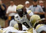 Georgia Tech QB Nesbitt signals to his receiver while under center