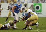 …Georgia Tech DE Anthony Egbuniwe gets the sack of North Carolina QB Yates…