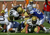 Jackets A-back Anthony Allen dives for extra yardage