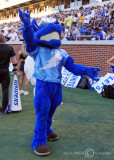 Middle Tennessee State Mascot Lighting works the Blue Raiders faithful