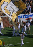 Yellow Jackets flag flies to celebrate a touchdown