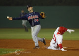 …and delivers the throw to first for the double play