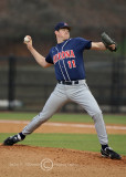 Arizona P Guilmet delivers from the mound