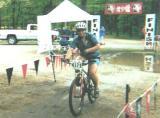 WORS Mtn Bike race 2001 - Crossing the finish line