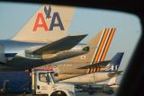 Chicago O'Hare Airport. AA B777, Asiana B747 and SAS A330