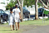 Heading to Sunday Morning Church (Upolu Island)