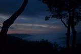 Mountain dawn, with fog