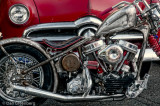 1949 Ford with 1952 Harley Davidson FL