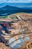 Roads and Layers in an Open Pit Gold Mine