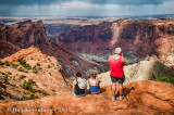 3 Tourists at Upheaval Dome
