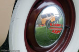 1946 Plymouth Hub Cap with 29 Model A Refrlection