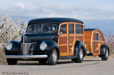 1940 Ford with Teardrop Camper