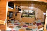 Inside of tear drop camper