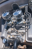 An unusual cross ram carb setup