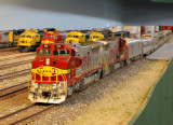 ATSF Officer train at Clovis Yard