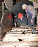 Steve and Gene working on the sawdust conveyer drive ----------  IMG_0750a.jpg