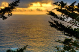 A glimpse of the Pacific Ocean, Cape Foulweather State Park, Oregon Coast