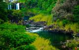 Pe'e Pe'e Falls, Big Island, Hawaii