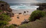 Small secluded beach, Mahaulepu Beach, Kauai, Hawaii
