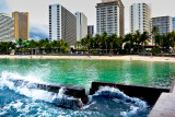 Breakwater, Waikiki Beach, Oahu, Hawaii
