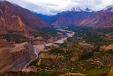 Hunza valley viewed from Eagle Point