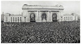 This shot was taken of Union Station in 1921 at the dedication of the Liberty Memorial Monument.