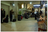 The waiting area for Amtrak. Notice the little blonde girl staring at me as I took the picture.