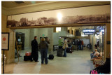 Notice above the archway the old photograph. It's of the Union Station from years past. Very cool.